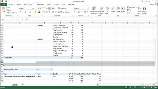 Adding visual graphs: Visualizing a Report in Microsoft Project