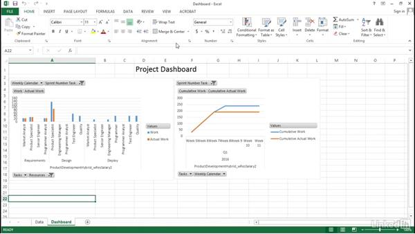 Next steps: Visualizing a Report in Microsoft Project