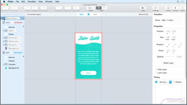 Design layer-based transitions: UX Design Tools: Flinto for Mac
