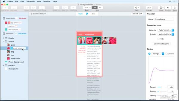How to reuse transitions: UX Design Tools: Flinto for Mac