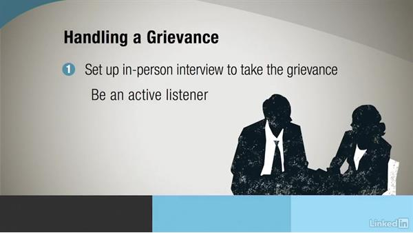 Take grievances: Administrative Human Resources