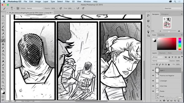Halos and highlights: Comic Book Digital Inking and Refinement