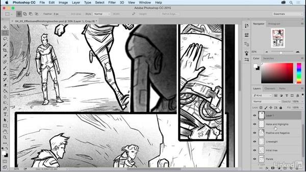 The blur effect: Comic Book Digital Inking and Refinement