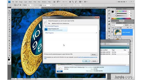 Installing the DekeKeys keyboard shortcuts: Photoshop CS4 One-on-One: Advanced