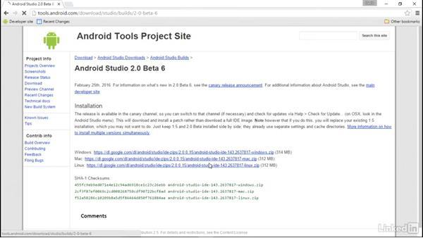 Install Android Studio on Windows: Android Studio Essential Training