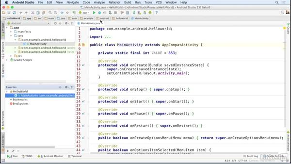 Use other tool windows: Android Studio Essential Training
