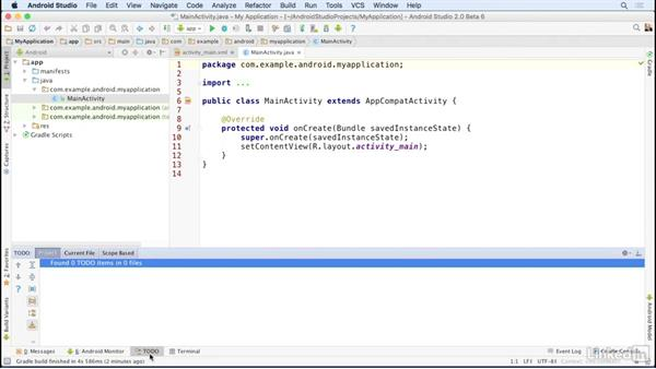 Manage the window layout: Android Studio Essential Training