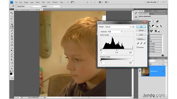 A first look at Levels: Photoshop CS4 One-on-One: Advanced