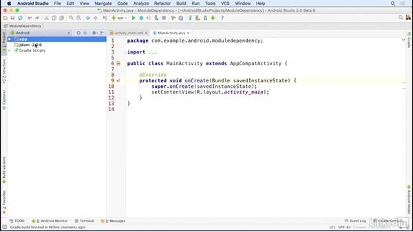 Add JAR files with modules: Android Studio Essential Training