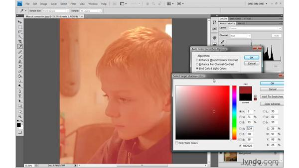 Target colors and clipping: Photoshop CS4 One-on-One: Advanced