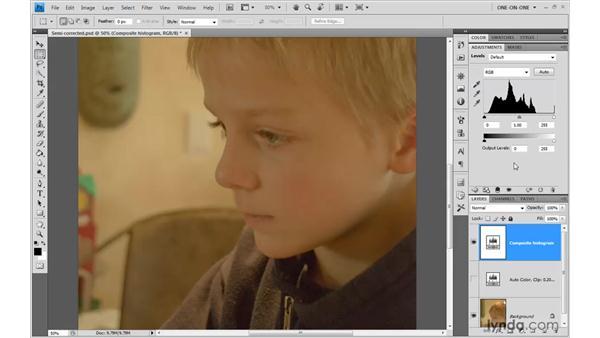 Modifying input levels: Photoshop CS4 One-on-One: Advanced