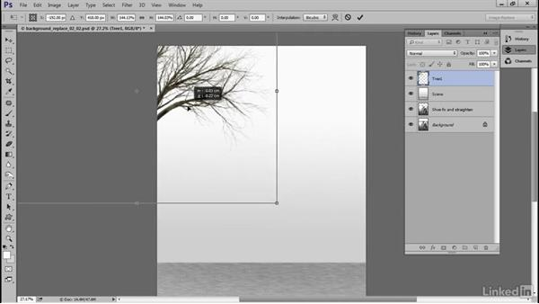 Create the background: Photoshop Restoration Techniques: Replacing a Background