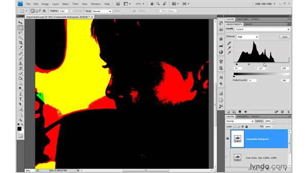 Previewing clipping: Photoshop CS4 One-on-One: Advanced