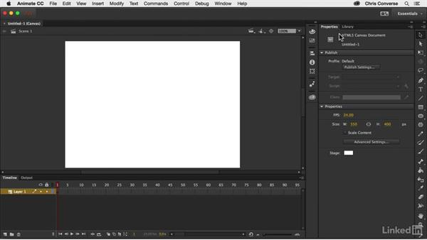 Creating a new HTML Canvas project: Creating an HTML5 Banner Ad with Animate CC
