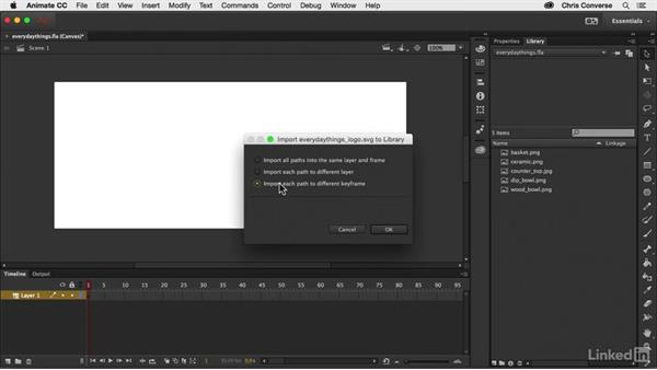 Importing artwork to the library: Creating an HTML5 Banner Ad with Animate CC