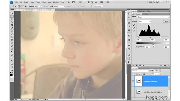 The futility of output levels: Photoshop CS4 One-on-One: Advanced