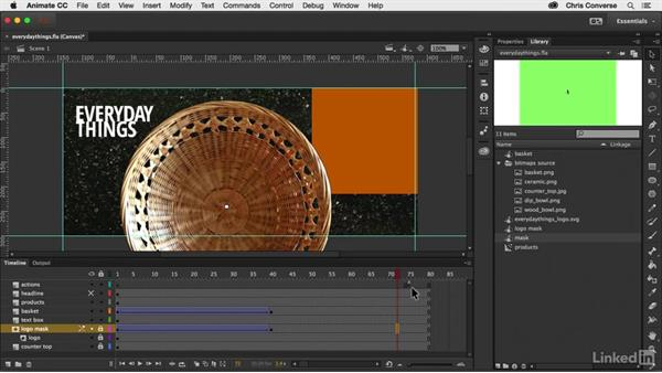 Adding timeline actions: Creating an HTML5 Banner Ad with Animate CC