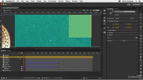 Making the ad clickable: Creating an HTML5 Banner Ad with Animate CC