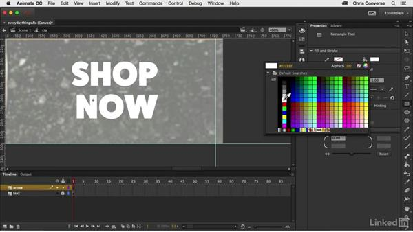 Creating the call-to-action symbol: Creating an HTML5 Banner Ad with Animate CC