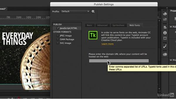 Exploring the publish options: Creating an HTML5 Banner Ad with Animate CC