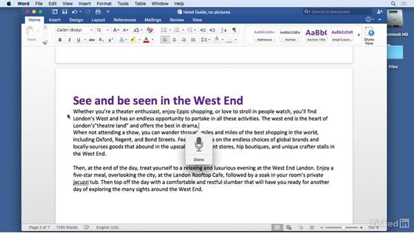 Voice dictation: Mac OS X El Capitan Tips and Tricks