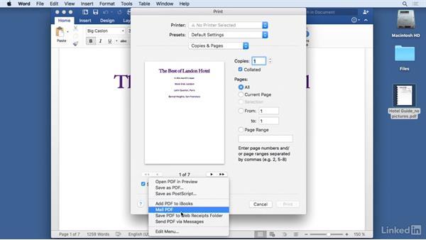 Print to PDF: Mac OS X El Capitan Tips and Tricks