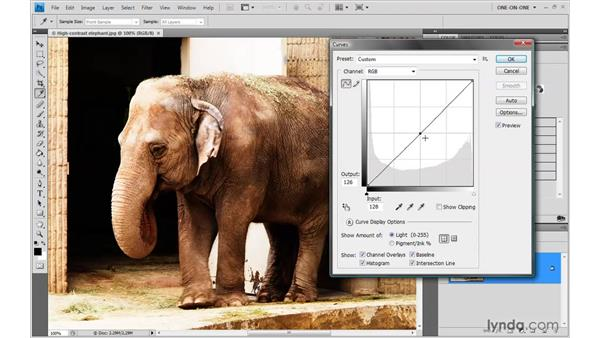 A first look at Curves: Photoshop CS4 One-on-One: Advanced