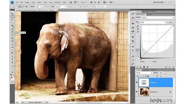 Dynamic Curves layer tricks: Photoshop CS4 One-on-One: Advanced