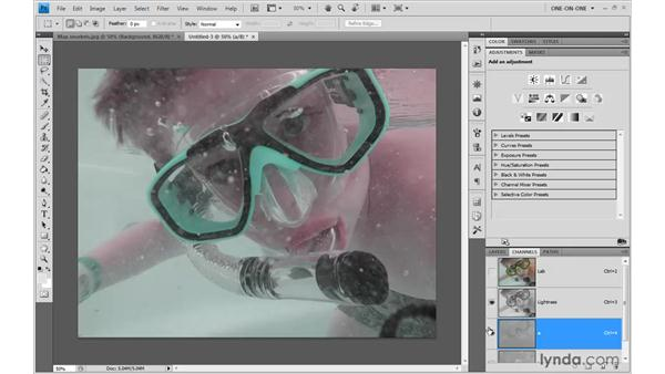 Correcting an image in Lab: Photoshop CS4 One-on-One: Advanced
