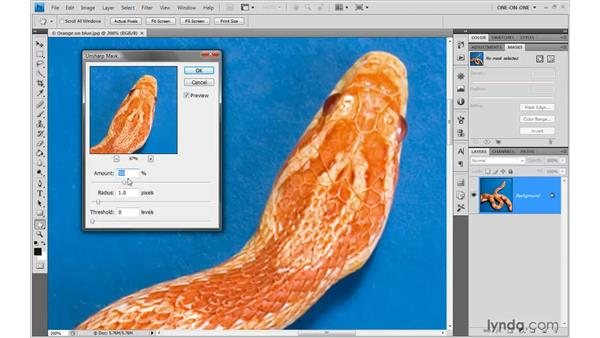 The Unsharp Mask filter: Photoshop CS4 One-on-One: Advanced
