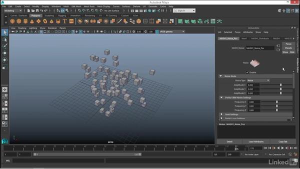 MASH: Noise node: Maya: Motion Graphics Workflow with MASH