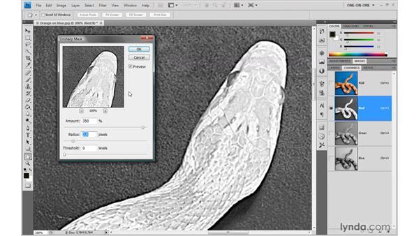 Understanding the Radius value: Photoshop CS4 One-on-One: Advanced