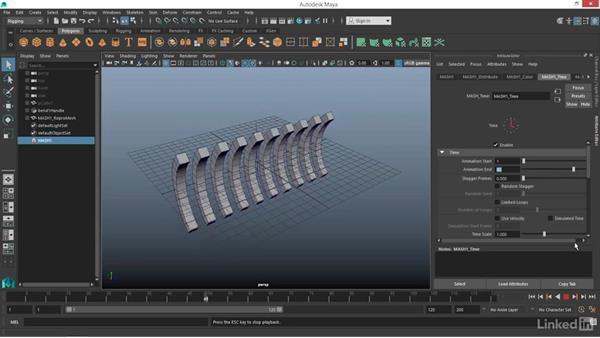 MASH: Time node: Maya: Motion Graphics Workflow with MASH