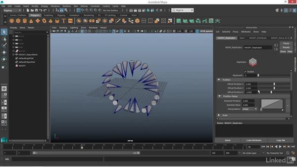 MASH: Replicator node: Maya: Motion Graphics Workflow with MASH