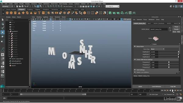 How to use type with MASH: Maya: Motion Graphics Workflow with MASH