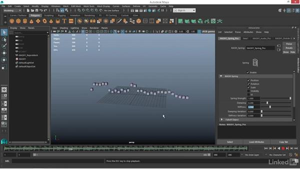 How to use the MASH Audio node: Maya: Motion Graphics Workflow with MASH