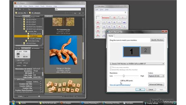 Measuring and setting screen resolution: Photoshop CS4 One-on-One: Advanced