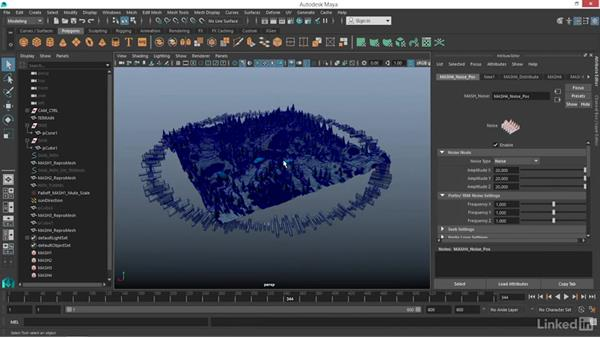 Finishing a futuristic HUD with MASH: Maya: Motion Graphics Workflow with MASH