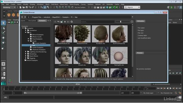 Use the Content Browser: Maya 2016 Extension 2 New Features
