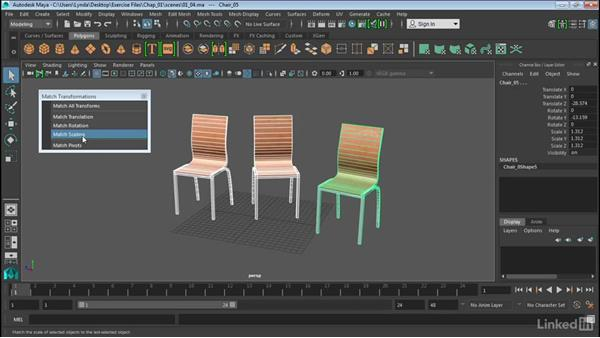 Match transformations: Maya 2016 Extension 2 New Features