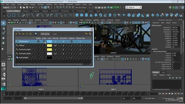 Use the Light Editor: Maya 2016 Extension 2 New Features