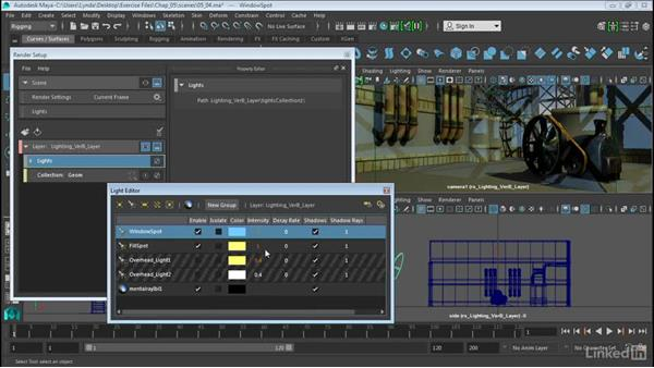Modify lights in collections: Maya 2016 Extension 2 New Features