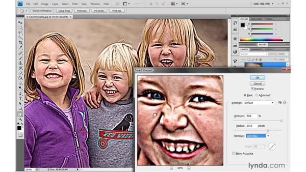 High-resolution sharpening: Photoshop CS4 One-on-One: Advanced