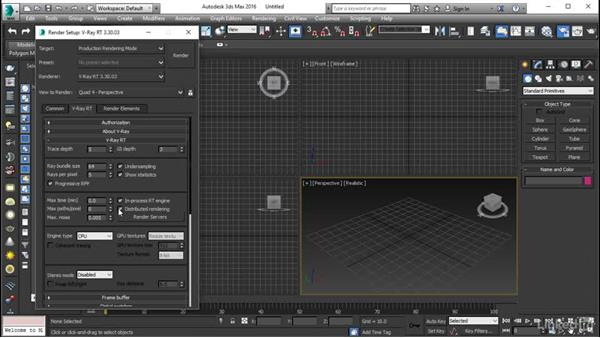 Taking the options further: Using Vray RT in Production Rendering