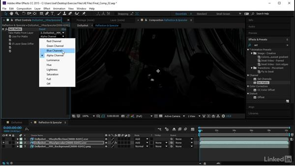 Adding in the reflectivity: Using Vray RT in Production Rendering