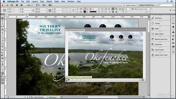 Prepare and preview your document: Publish Online with InDesign