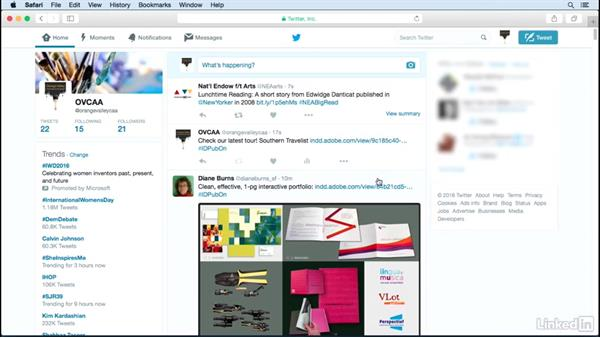 Share your document on Twitter: Publish Online with InDesign