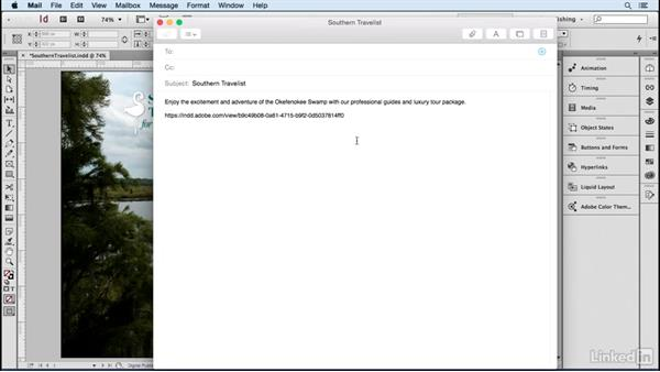 Share the document URL via email: Publish Online with InDesign