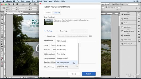 Allow a PDF download: Publish Online with InDesign