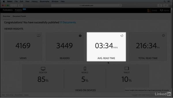 Understand web dashboard analytics: Publish Online with InDesign